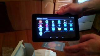 Планшет ALCATEL One Touch Pixi 3 7 0 9002X 4Gb 3G Black видео обзор распаковка