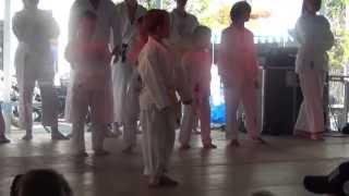 preview picture of video 'Vorführung der Tae Kwon Do Schule Gilching auf der Italienis'
