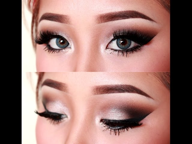 Sultry Silver Cutcrease Eye Makeup Dark Sultry Makeup Tutorial