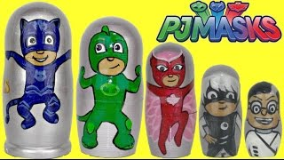 PJ MASKS Nesting Matryoshka Dolls Stacking Cups with Toy Surprises