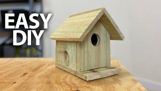 EASIEST DIY Simple Birdhouse With Minimal Tools Step By Step | Ales Everyday