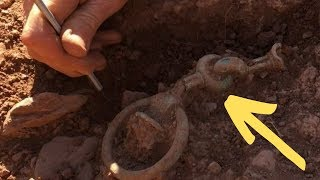 Man Uncovers Old Chain With Metal Detector, Has No Idea What's On The Other End