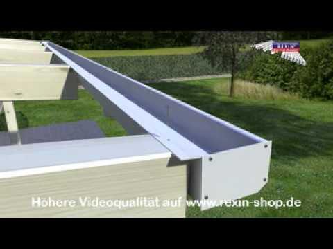3D Aufbauanleitung Terrassendach 3 (Regenrinne)