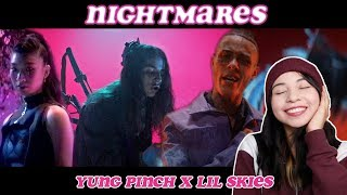 Yung Pinch  Nightmares Ft. Lil Skies (Official Video) | REACTION