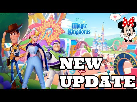 TOY STORY 4 AND ALADDIN NEW UPDATE! UPDATE 30 Disney Magic Kingdoms