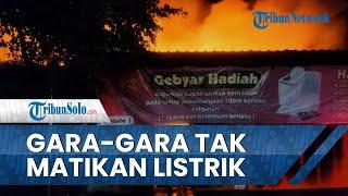 Gara-gara Lupa Tak Matikan Listrik Odong-Odong, Toko Grosir di Klaten Ludes Dilahap Si Jago Merah