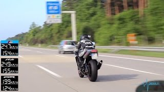BMW M5 vs R6 vs CBR 600 RR - TOP SPEED - Part 1 [1080p]