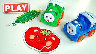 Веселые Паровозики изучают Овощи и Фрукты - Поиграйка с Анной