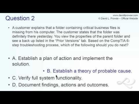 Analyzing A+ 220-902 Sample Questions - YouTube
