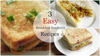 3 Easy Breakfast Sandwich Recipes