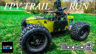 Epic FPV Trail Run Adventure with my Tekno RC Truck DB48.3 Jumps