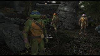 The Teenage Mutant Ninja Turtles Followers in Skyrim SE Mod