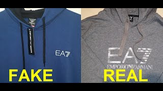 Real vs Fake EA7 Hoodie. How to spot fake Emporio Armani 7 hoodies and sweatshirts