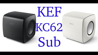 KEF KC62 subwoofer, easily the best compact sub I've heard