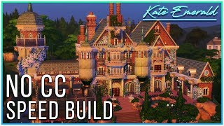 Sims 4 Speed Build - Neo Gothic Inspired Manor   Kate Emerald