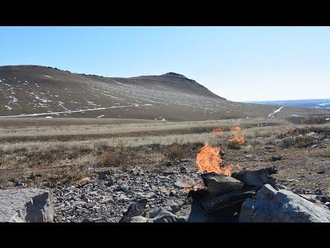 Вечный огонь в степи Красноярского края