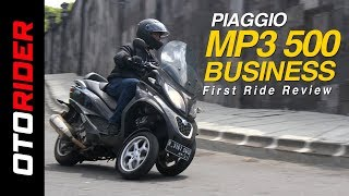 Piaggio MP3 500 Business First Ride Review Indonesia | OtoRider