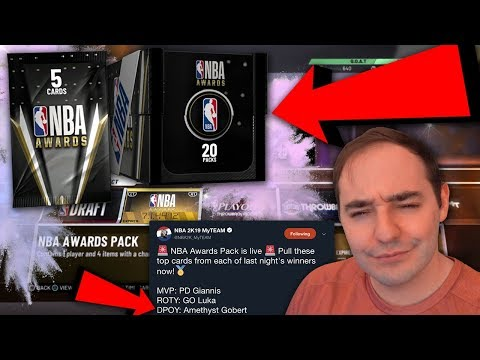 NBA 2K19 My Team NEW NBA AWARDS PACKS! YOU MUST WATCH THIS VIDEO!!!