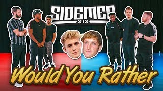 JAKE PAUL OR LOGAN PAUL? - SIDEMEN WOULD YOU RATHER