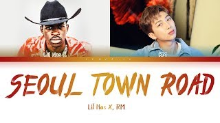Lil Nas X, RM of BTS - Seoul Town Road (Old Town Road Remix) [Color Coded Lyrics/Eng] (한국어 자막)