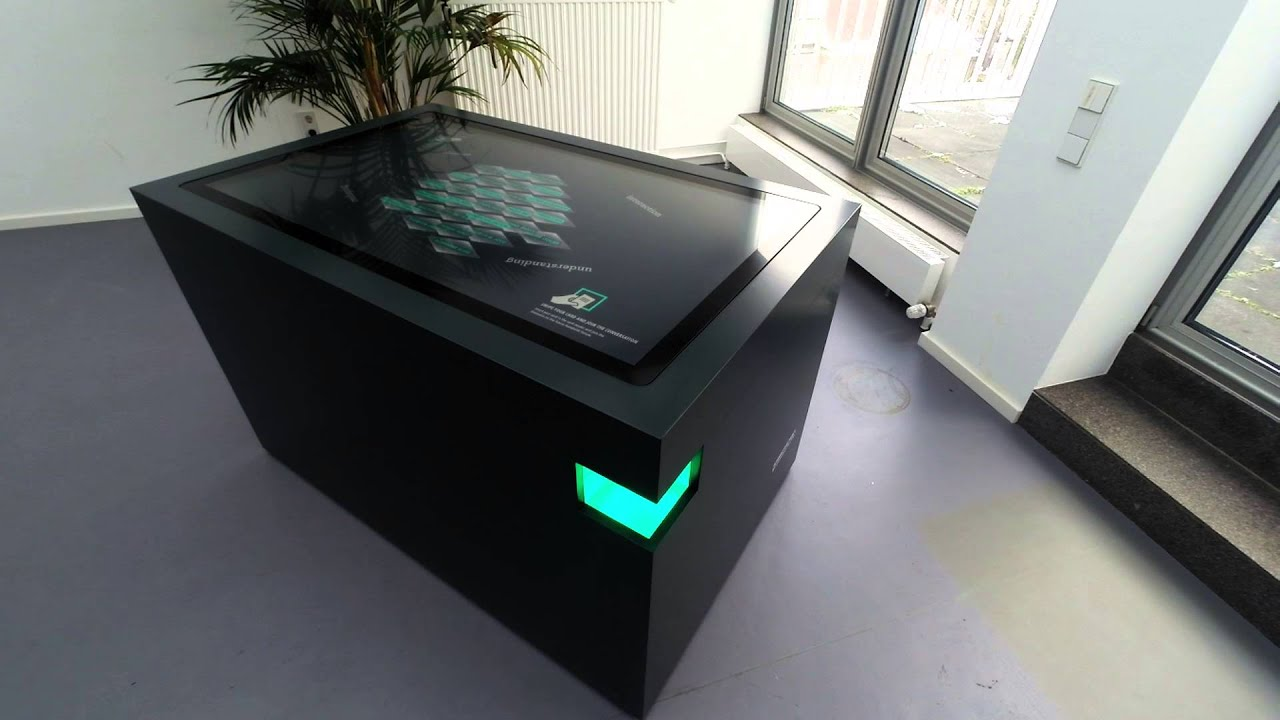 Scanner table humboldt forum garamantis multi touch table scans business cards or badges with qr code reheart Images