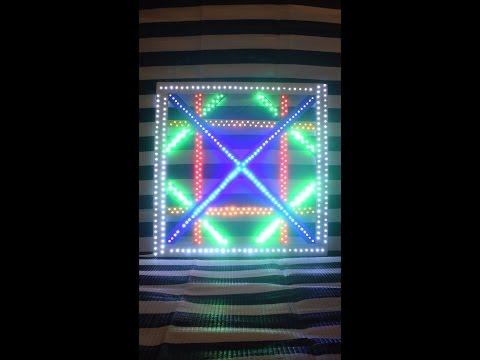 DIY  Selbstgebaute Lampe mit bunten LEDs (580st)