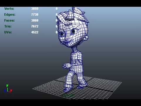 Rigging and Walk cycle with Autodesk Maya