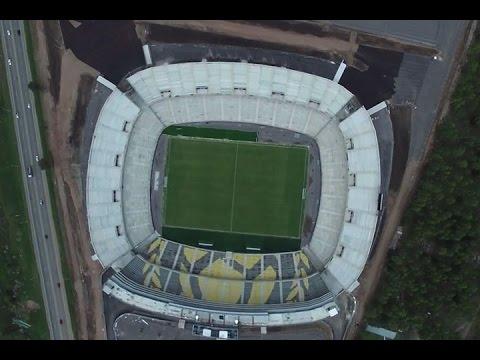 """""""Peñarol inauguró su nuevo estadio ante River Plate"""" Barra: Barra Amsterdam • Club: Peñarol"""