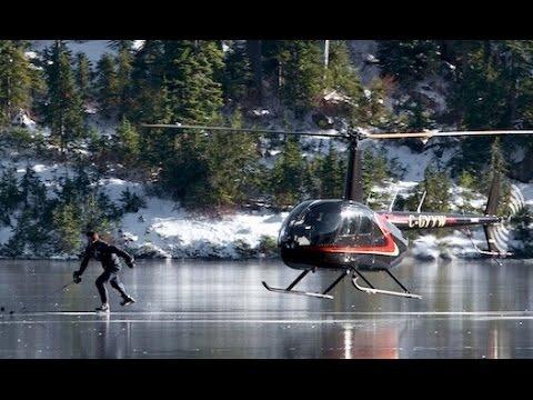 hqdefault - Hockey + Lago congelado + Sitio increible + Helicoptero = Hipnotico