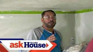 How to Flatten a Textured Ceiling | Ask This Old House