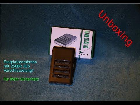 Festplattenrahmen mit 256Bit AES Verschlüsselung | Unboxing