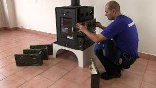 Кахельна піч на дровах Haas + Sohn Empoli бордова від компанії House heat - відео 1