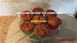 banana choc chip muffins with almond flour