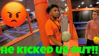 WE GOT KICKED OUT OF SKYZONE!!!