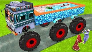 Monster Truck Swimming Pool Funny Comedy Video हिंदी कहनिया Hindi Kahani Stories Hindi Comedy Video