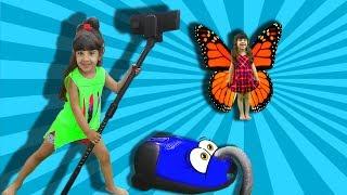 Пылесос проглатил ВРЕДИНУ бабочку. Мультик про Пылесос - Веселая бабочка VS пылесоса