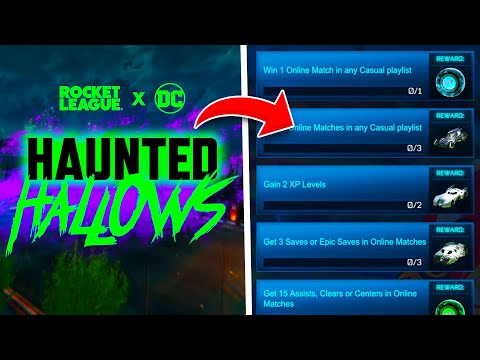 , title : 'HAUNTED HALLOWS 2021 Event On Rocket League! BATMOBILES RETURN And More FREE ITEMS!'