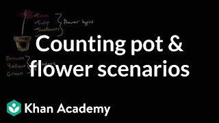 Counting Pot And Flower Scenarios