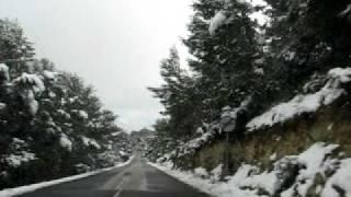 preview picture of video 'Calvia Road in the Snow - Palma de Mallorca'