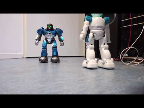 dancing battle robot R5 vs R11