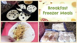 Breakfast Freezer Meals ~ Burritos, Egg McMuffins & Pancakes
