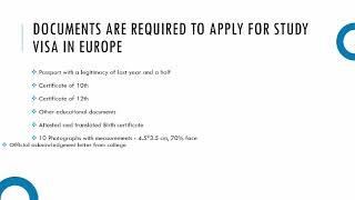 Get a Student Visa for Europe from India | Study Visa for Europe
