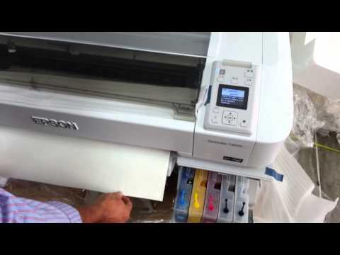 Plotter Epson Surecolor Instalacion Papel de Sublimacion Rollo