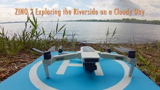 Hubsan Zino 2 Exploring the Riverside on a Cloudy Day