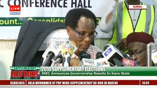Kano REC Announces Results Of Supplementary Election |The Verdict|