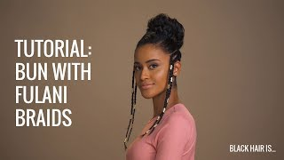 How To: High Bun With Fulani Braids | Black Hair Is...