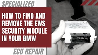 How to find and remove the EWS security module in your BMW
