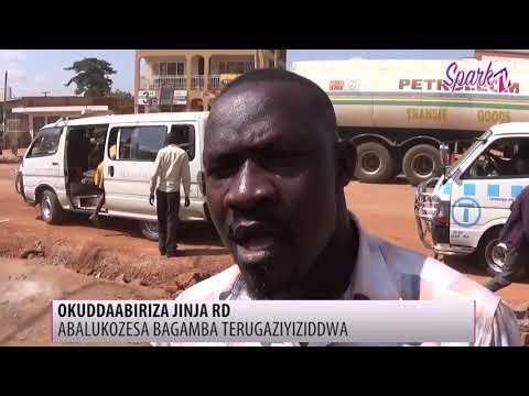 Abakozesa oluguudo lwa Jinja road bakukulumidde aba UNRA