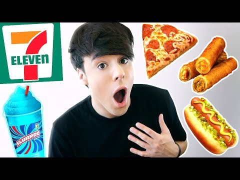 i only ate GAS STATION *7 ELEVEN* foods for 24 hours