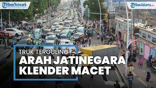 Imbas Truk Terguling, Jalan Bekasi Timur Jatinegara Menuju Klender Macet Total saat Jam Pulang Kerja